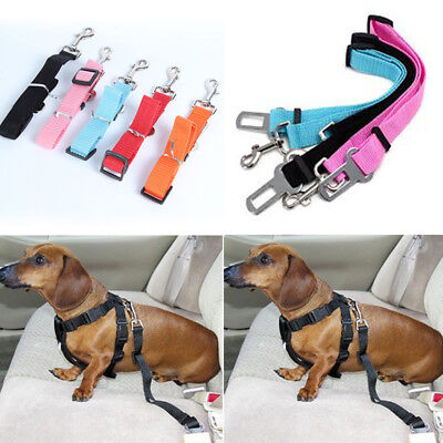 New Adjustable Dog Pet Car Safety Seat Belt Harness Restraint Lead Travel Leash