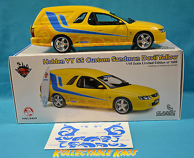 1:18 Classics - Holden VY SS - Custom Sandman - Devil Yellow (diecast expo) NEW