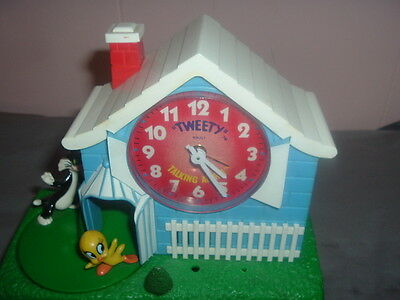 Tweety Bird and Sylvester Action & Talking Alarm Clock,Fully Functional/Spins.