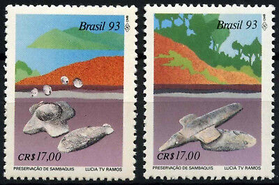 Brazil 1993 SG#2595-6 Archaeological Sites MNH Set #D54867
