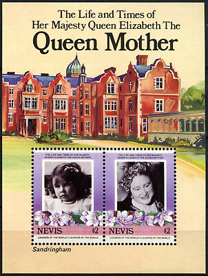 Nevis 1985 SG#MS317 Queen Mother MNH M/S #D54571