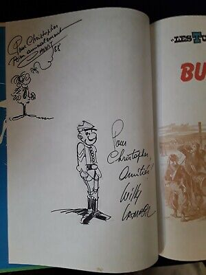 Comic Book. Les Tuniques Bleues. Bull Run No 27. Lambil & Cauvin Signed Drawings