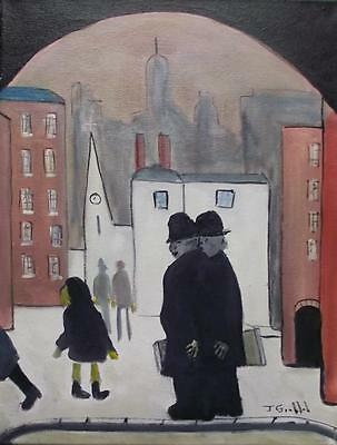 Original Impressionist Oil Painting by John Goodlad Northern Art THE BROTHERS