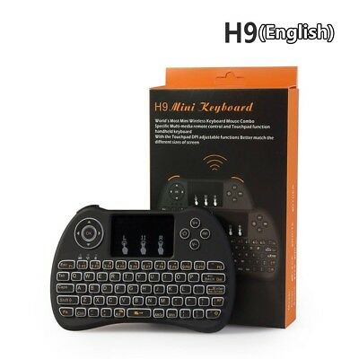 H9 Backlit 2.4G Mini Wireless Black Keyboard With Touchpad For Android TV