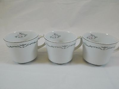 Signature Collection Petite Bouquet China Lot of 3 Cups EUC!