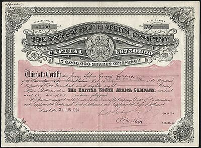 Rhodesia: British South Africa Company, 15/- Shares, 1924