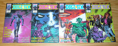 Digitek #1-4 VF/NM complete series - marvel uk - andy lanning - deathlok set lot