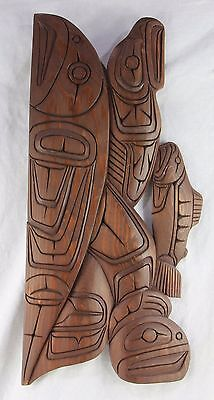 SQUAMISH Indian Nation Holzschnitz Kunst FISCHE & ADLER Canada B.C. carving