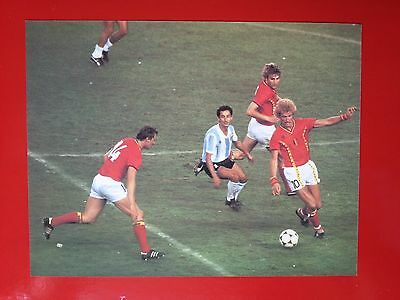 FOOTBALL repro PHOTO ARDILES BAECKE CEULEMANS COUPE DU MONDE 1982 format 23/30