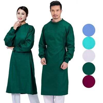 Unisex Surgical Gown Reusable Medical Isolation Gown Doctor Nurse Workwear S-2XL