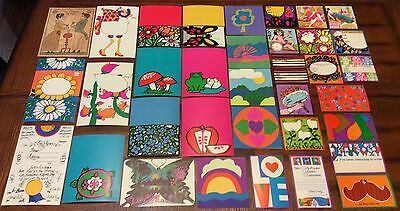 VINTAGE1000 PIECE LOT-COLORFUL ART-POSTCARDS-INVITATIONS+MORE byPETER MAX?1960s