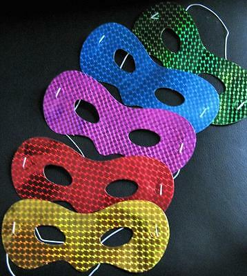 Bulk Lot x 20 Adults Kids Mixed Foil Masks Masquerade Party Favor Novelty Toy