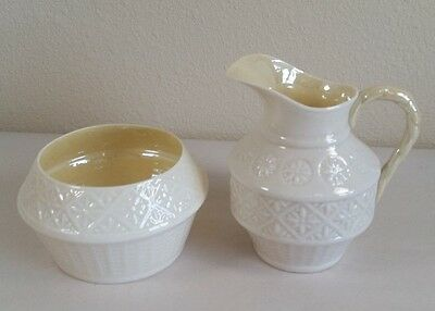 Vintage Belleek Lustre Cream and Sugar Set
