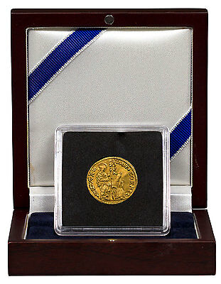 (14th-17th Centuries) Italy, Venice Gold 1 Zecchino In Display Box SKU47848