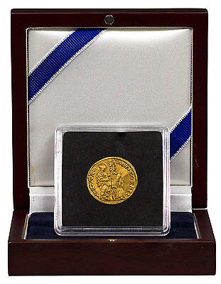 (14th-18th Centuries) Italy, Venice Gold 1 Zecchino In Display Box SKU47848