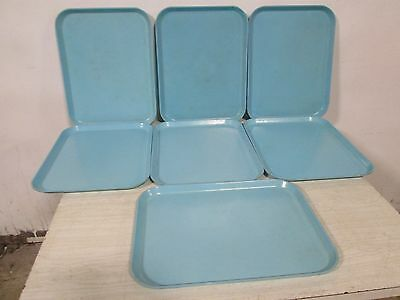 """Lot Of (7) """"plastic Mfg"""" Heavy Duty Commercial Fiber Glass Stackable Food Trays"""