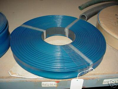 "Blue Pvc Lay Flat Discharge Hose 1-1/4"" Id X 50'"