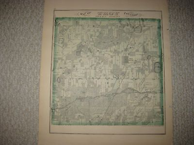 Antique 1873 Troy East Troy Walworth County Wisconsin Handcolored Map Superb Nr