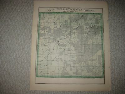 Antique 1873 Richmond Whitewater Walworth County Wisconsin Handcolored Map Rare