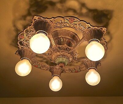 Vintage Lighting pair 1930s Virden fixtures. More Available