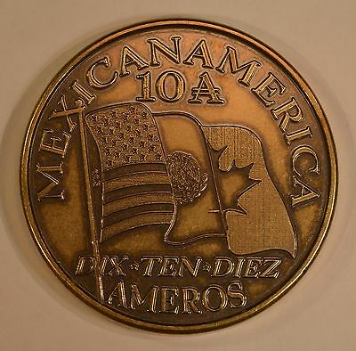 2010 Amero Pattern bronze coin for the North American Union
