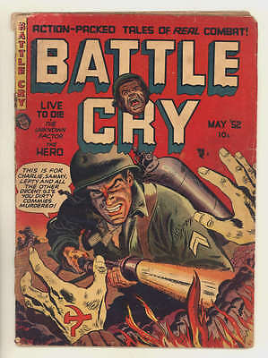May 1952 BATTLE CRY #1. Action-Packed Tales Of Real Combat!