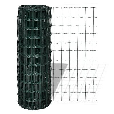 S# Steel Wire Mesh Roll Fence 1x25m PVC Coated Garden Pet Poultry Fencing 100x10