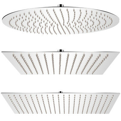 vidaXL Bathroom Rain Shower Head Rose Stainless Steel Wall Ceiling Multi Sizes