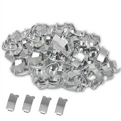 S# 500 pcs Nato Razor Wire Fencing Netting Clips Dovetail Joint Galvanised Steel