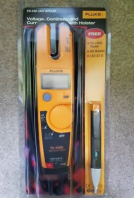 Fluke T5-1000 Voltage Continuity Tester kit with free holster.BRAND NEW