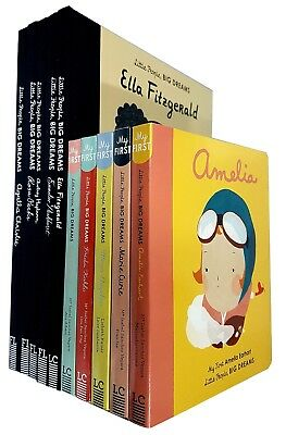 Little People, Big Dreams Series 10 Books Collection Set Pack Audrey Hepburn NEW