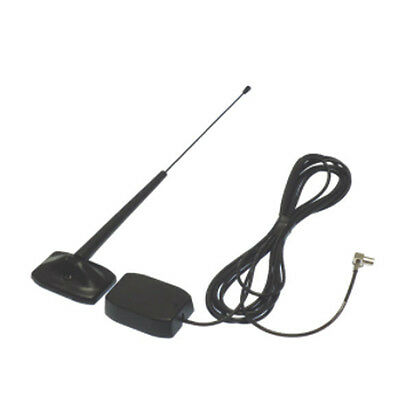 EXTERNAL GLASS MOUNT WHIP ANTENNA +15db CAR AERIAL 70-925 DAB