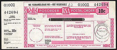 South Africa, Postal Orders, 10c, 1977, with counterfoil