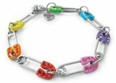 NEW Charm It - Rainbow Safety Pin Bracelet
