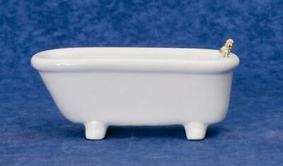 Melody Jane Dolls House Plain White Porcelain Bath Tub Miniature