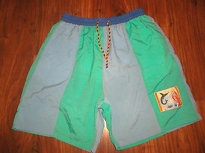 rare vintage 80`s short pants olschool surf new wave retro surf hipster M/L