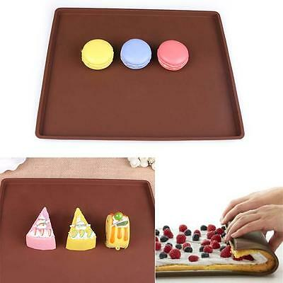 Flexible Silicone Pastry Cookie Cooking Mould Cakes Roll Baking Pan Sheet Pad HP