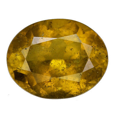1.660Cts Marvelous Luster Yellow Natural  Sphene Oval Loose Gemstones