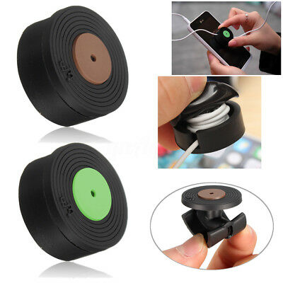 Screen Cleaner Silicone Cable Cord Wire Winder Organizer Wrap Headphone Earphone