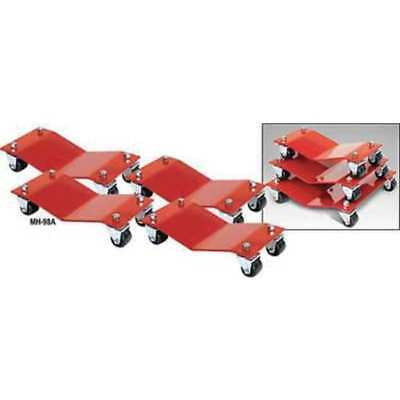 AUTO DOLLY M998001 Car Dollies,8 x 16 In,6000 Lb,Pk 4