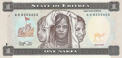 State Of Eritrea  One Nakfa Note   Uncirclated   1997