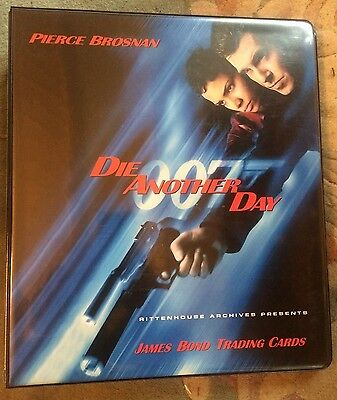 007 BOND DIE ANOTHER DAY TRADING CARD BINDER & 90 Card Base Set , Rittenhouse