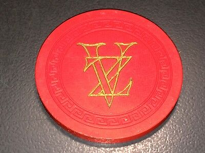 Rare Orig. 1940's Darry F. Zanuck Engraved Poker Chip + Zanuck Coa!