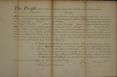 1809, New York Governor, Vice President,  Daniel Tompkins, military appointment