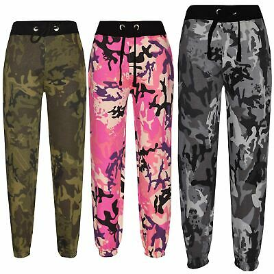 a1068ea0bcdc Kids Boys Girls Camouflage Joggers Jogging Pants Trackie Bottom Casual  Trousers