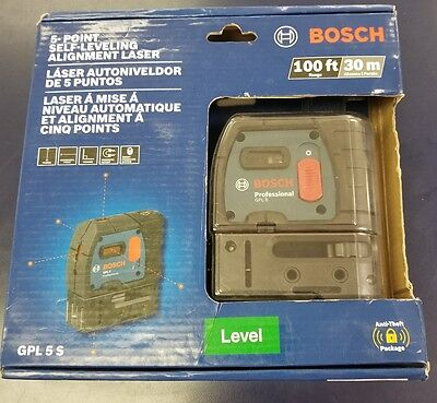 Brand New Bosch Gpl 5 S 5-Point Self Leveling Alignment Laser Level