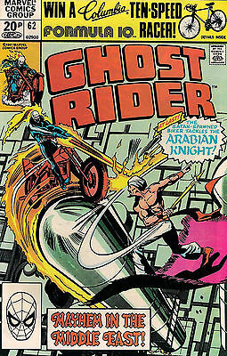 GHOST RIDER #62<>MARVEL COMICS<>MICHAEl FLEISHER/JACK SPARLING<>1981<>vf(8.0)~~
