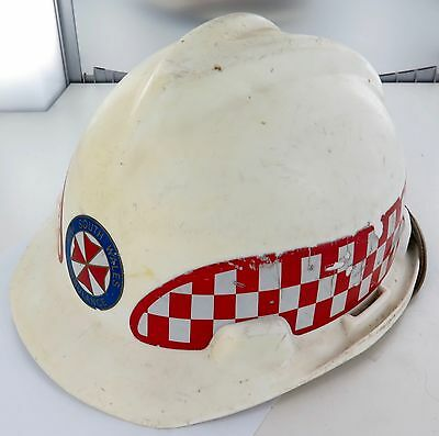 1980's OBSOLETE NSW AMBULANCE HARD HAT. #2
