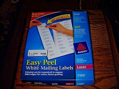AVERY LABELS for Laser Printers~ #5160-partial box