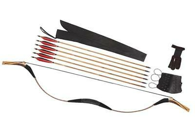 Traditional Archery Custom 20-80lb Longbow Set+6 Bamboo Arrows+Finger Arm Gurad